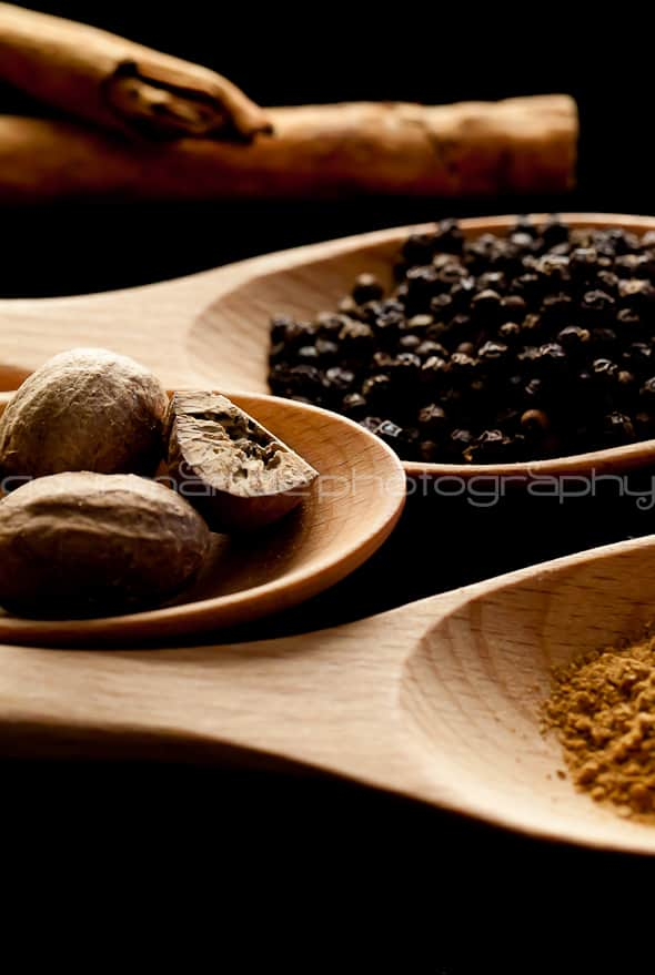 Cinnamon Nutmeg Black Peppercorns image 1 1 of 1 2 Holiday Spices | Flavors of the Season