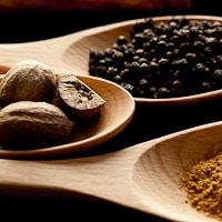 Cinnamon, Nutmeg, Black Peppercorns