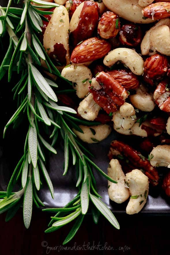 Spicy Roasted Nuts with Rosemary