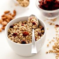 granola with cranberries