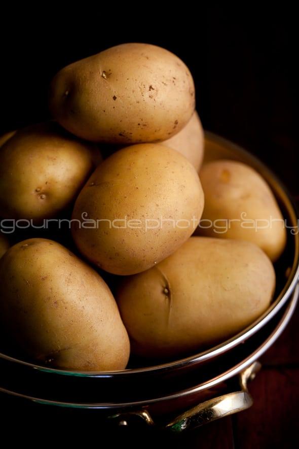 potatoes with creme fraiche sauce