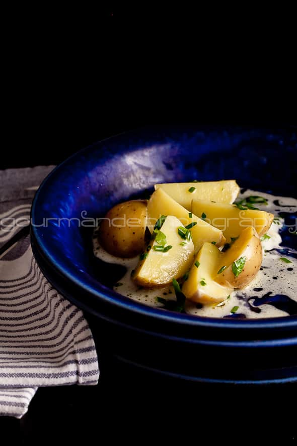 potatoes with creme fraiche sauce 1 of 1 Potatoes With Crème Fraîche Sauce | Well Dressed Potatoes