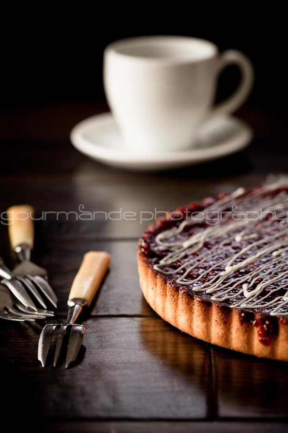 lemon raspberry tart