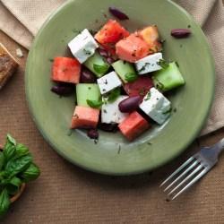 Watermelon, Heirloom Tomato and Feta Salad
