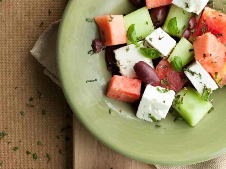 Watermelon, Heirloom Tomato and Feta Salad Recipe
