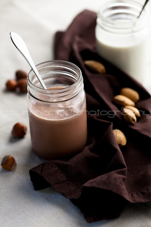 chocolate hazelnut milk and almond milk