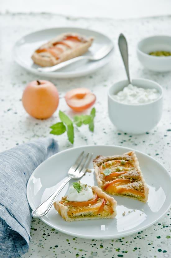 Apricot Franfipane Tart by Meeta K. Wolff