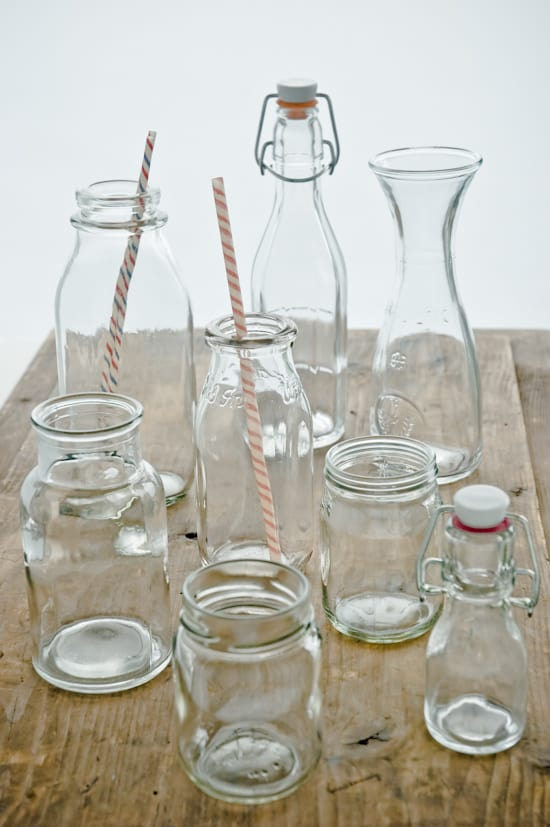 clear glass jars and bottles by Meeta K. Wolff