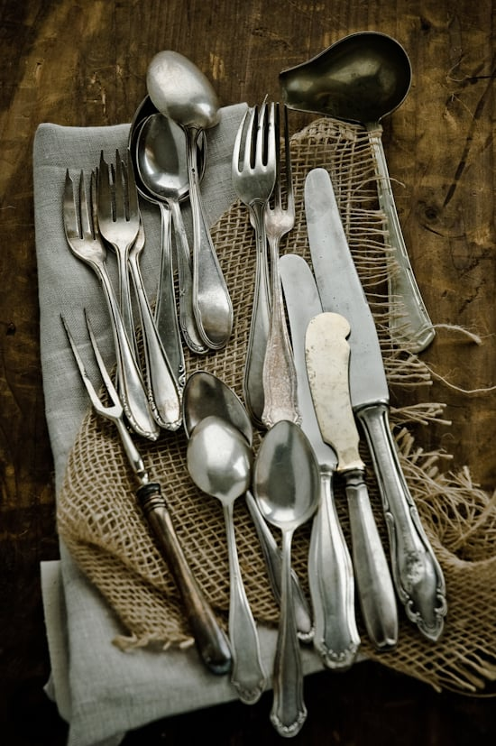 Vintage Spoons, Forks and Knives by Meeta K. Wolff