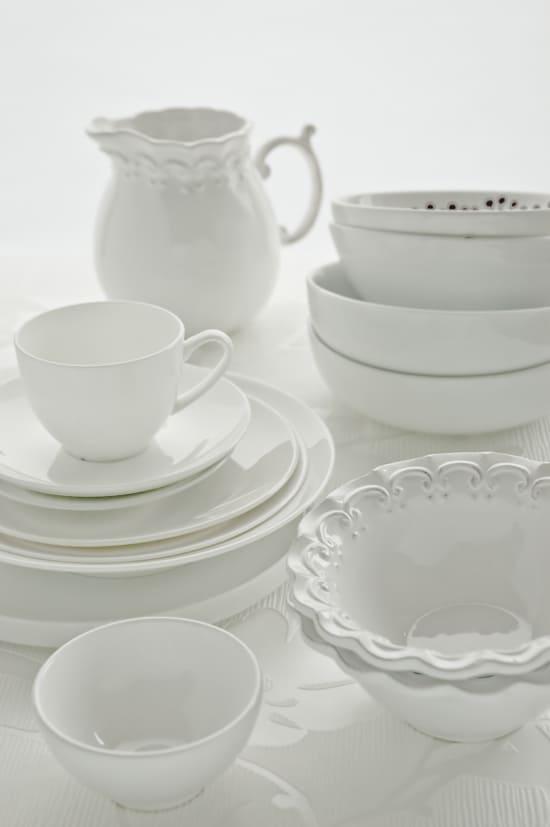 White Dinnerware by Meeta K. Wolff