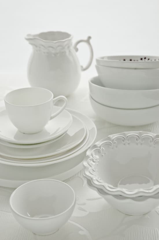 White Dinnerware by Meeta K. Wolff