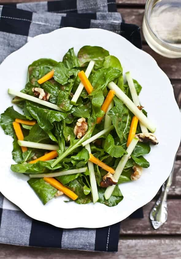 Salad with Shallot Vinaigrette