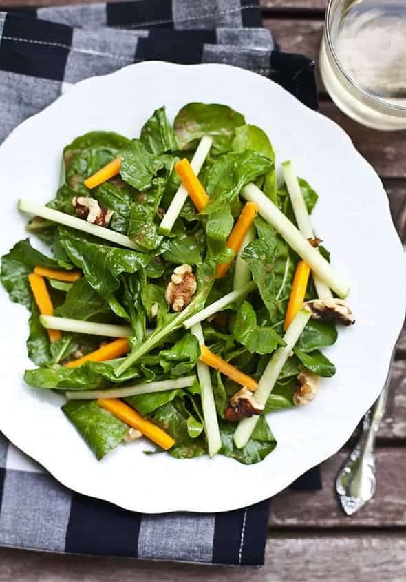 Salad with Shallot Vinaigrette