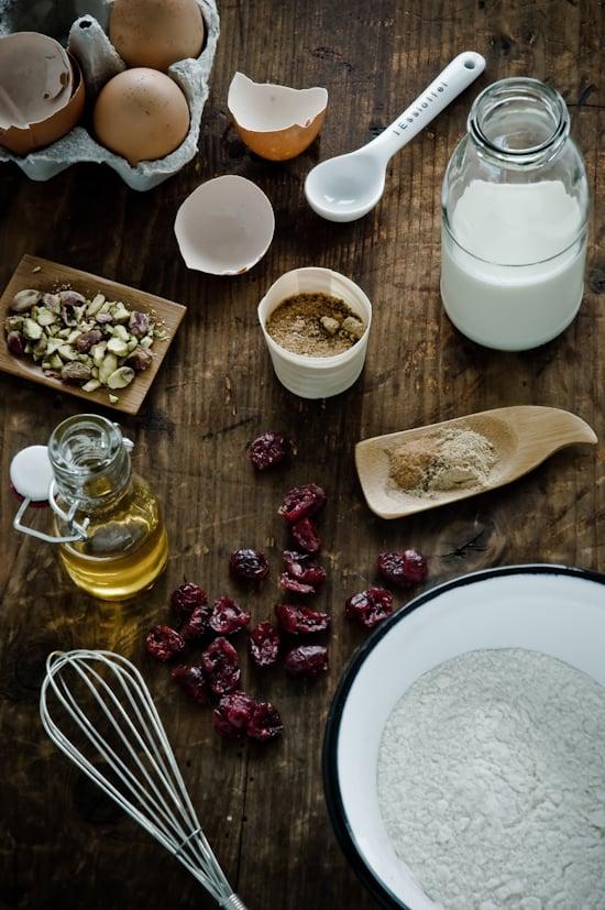 Spiced Cranberry Pistachio Muffins by Meeta K. Wolff