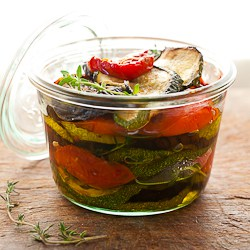 eggplant, zucchini and tomatoes in jar (1 of 1)