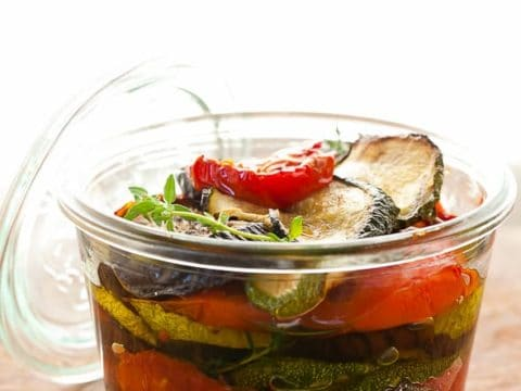 Olive Oil Marinated Roasted Vegetables with Garlic and Thyme