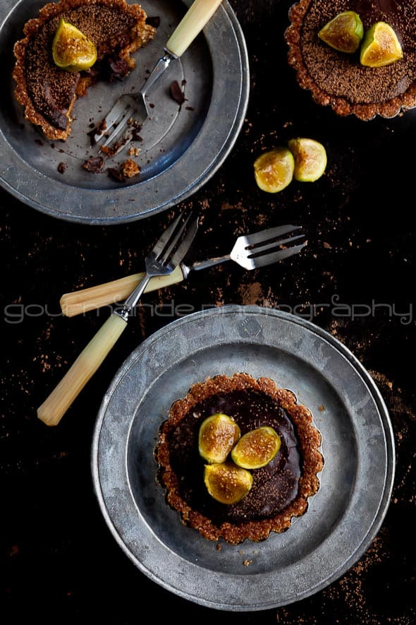 chocolate fig tarts, chocolate tart recipe, fig recipe