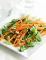 Carrot Watercress Salad with Orange Blossom Dressing