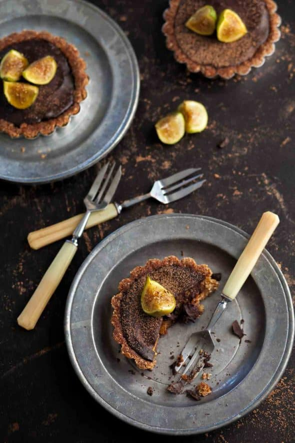 Chocolate Fig Tartelettes (Grain-Free, Paleo)
