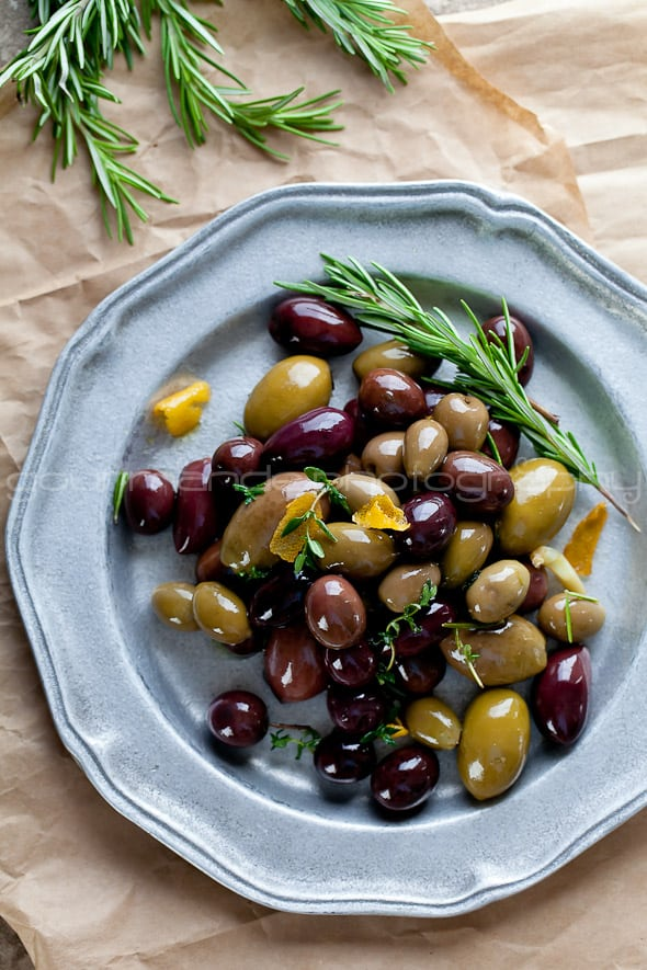 Marinated Olives with Rosemary Marinated Olives with Garlic, Rosemary and Thyme | An Ancient Fruit