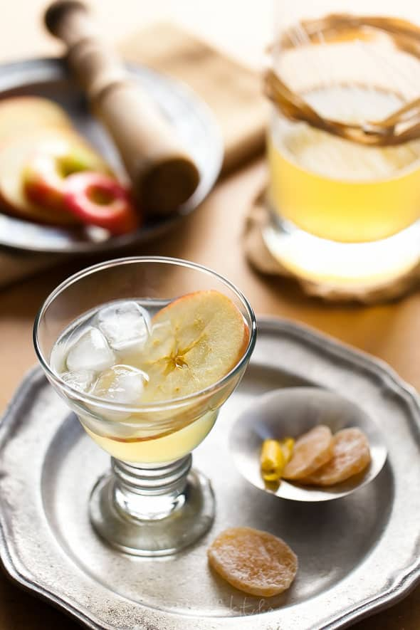 Apple Calvados Cocktail Recipe The Normand Fizz | Apple Ginger Calvados Cocktail