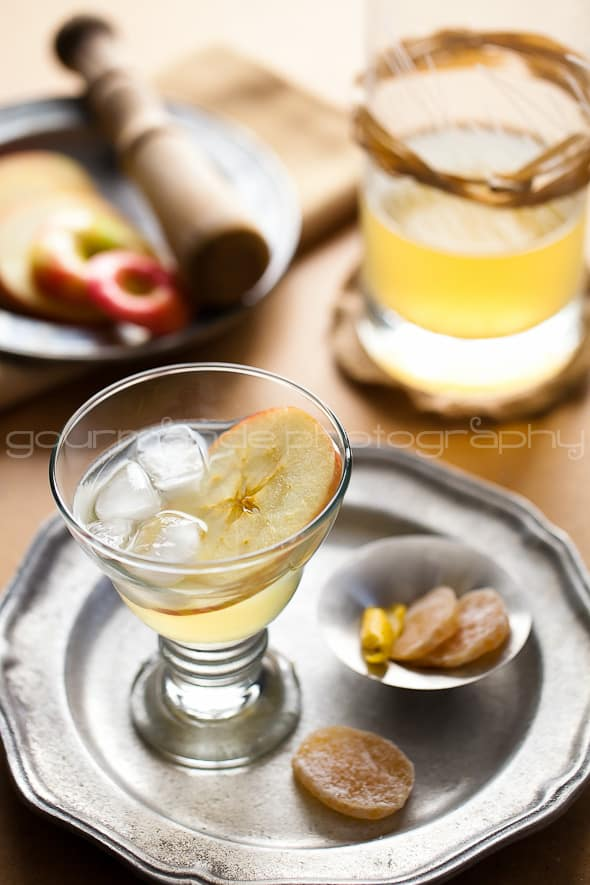 Apple Ginger Calvados Cocktail Recipe 3 The Normand Fizz | Apple Ginger Calvados Cocktail