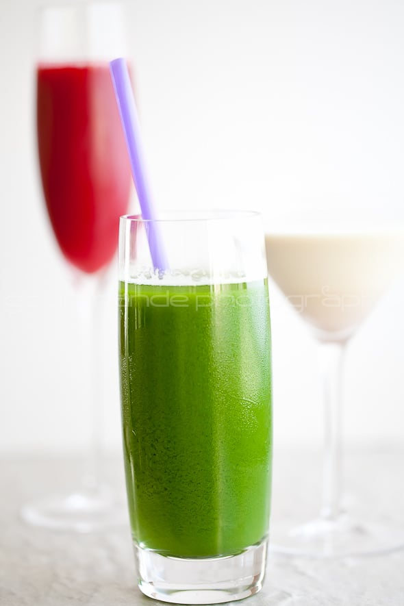 BPC and Cooler Cleanse juices in glasses