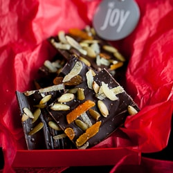 Chocolate Ginger, Pumpkin Seed and Apricot Bark