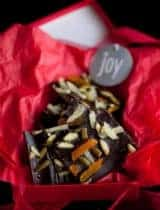Dark Chocolate Pumpkin Seed Bark with Ginger and Apricots