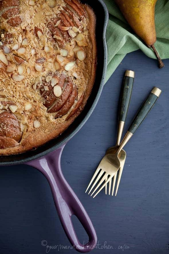 pear almond clafoutis, pear clafoutis, clafoutis recipe, gluten-free clafoutis, grain-free clafoutis, paleo clafoutis