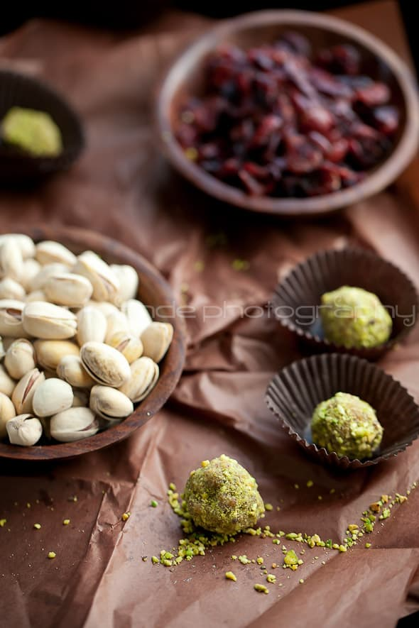 Pistachio Cranberry Orange Sugar Plums 5 Orange, Cranberry, Pistachio Fruit and Nut Truffles | Visions of Sugar Plums
