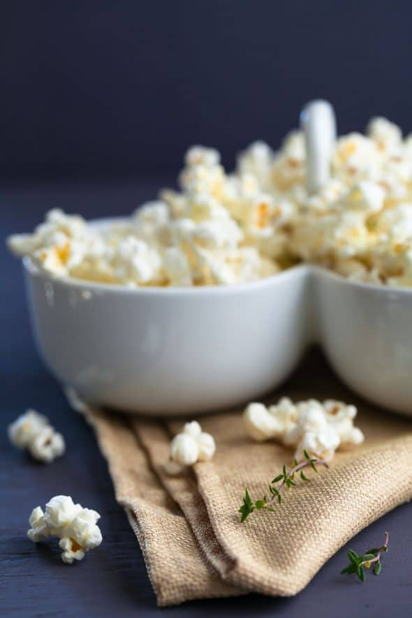 Truffle Butter, Thyme and Parmesan Popcorn Recipe