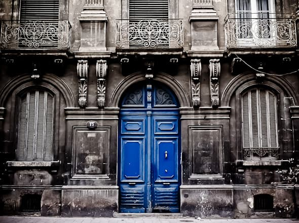 Blue Door in France Gourmande in the Kitchen