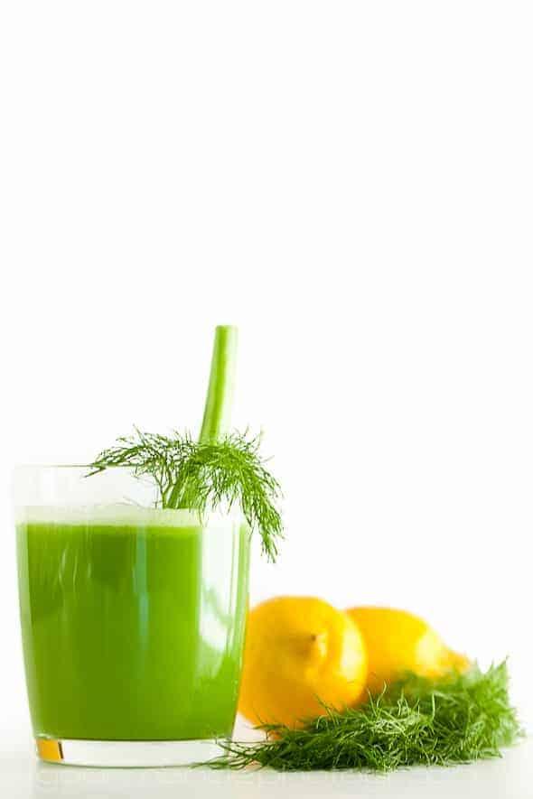 Fennel, Apple, Celery Juice in Glass