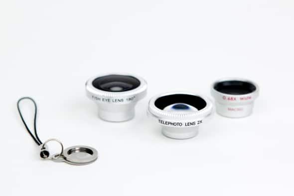 set of three iphone lenses