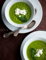 Creamy Broccoli Spinach Soup | A Bowl of Green
