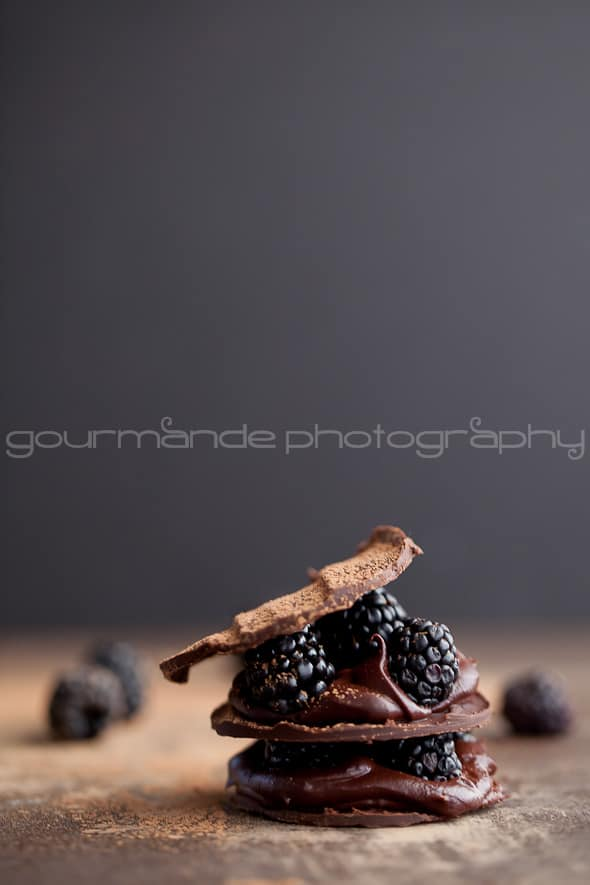 Chocolate Blackberry Mille Feuille Gourmande in the Kitchen