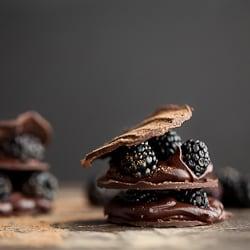 Chocolate Blackberry Mille-Feuille Recipe
