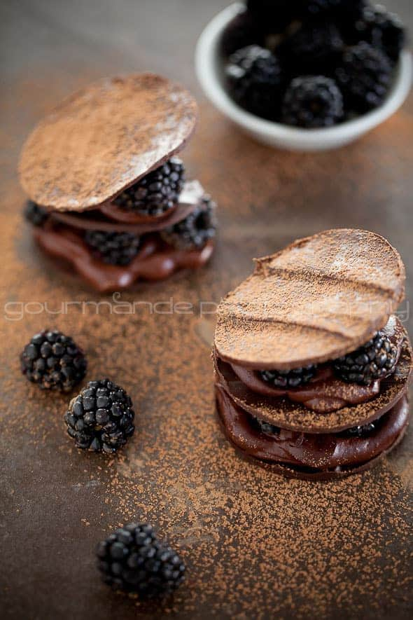 Chocolate Blackberry Mille Feuille Recipe Sylvie Shirazi