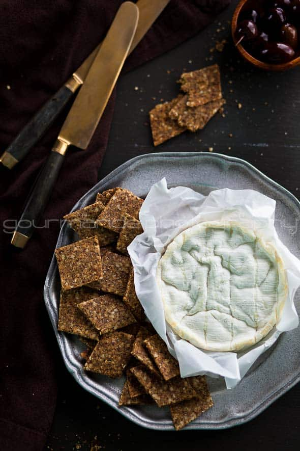 Grain Free, Gluten Free Flax and Hemp Seed Crackers Sylvie Shirazi
