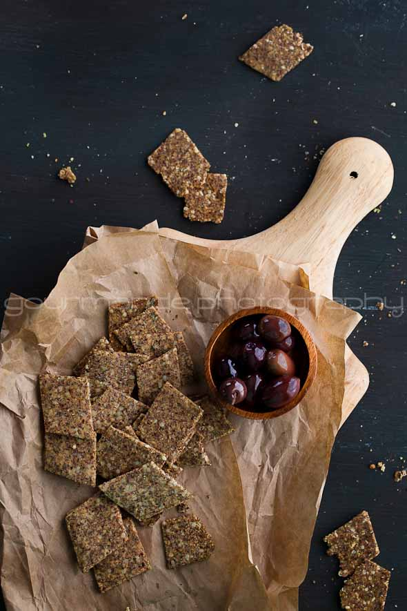 Grain Free, Gluten Free Flax and Hemp Seed Crackers Recipe