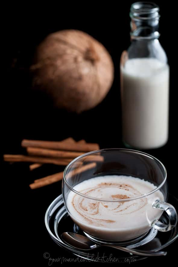 Hot Spiced Coconut Cashew Milk Recipe, spiced coconiut milk recipe, cashew coconut milk recipe, spiced milk recipe