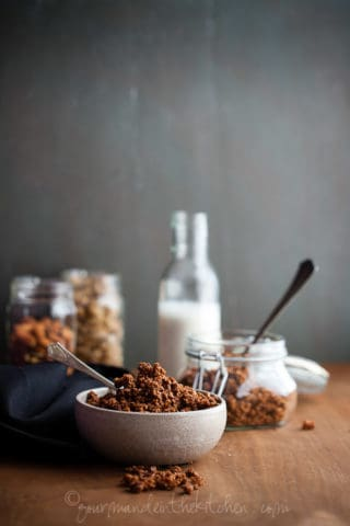 Gluten Free and Grain Free Chocolate Granola | Chocolate for Breakfast