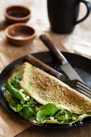 Spinach and Herb Omelette Wraps