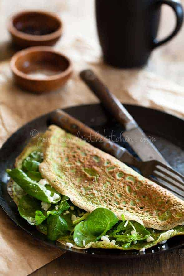 gluten Free Crepes, flourless crepes, thin omelette Gourmande in the Kitchen