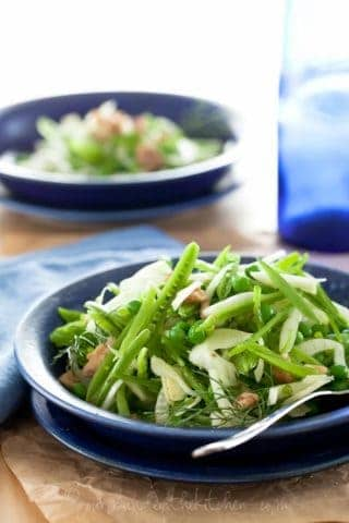 Sugar Snap Pea and Fennel Salad with Apple Cider Vinaigrette