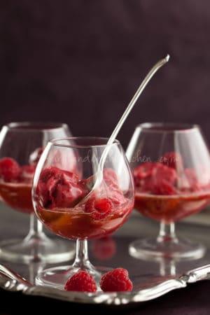 Raspberry Lychee Sorbet Gourmande in the Kitchen