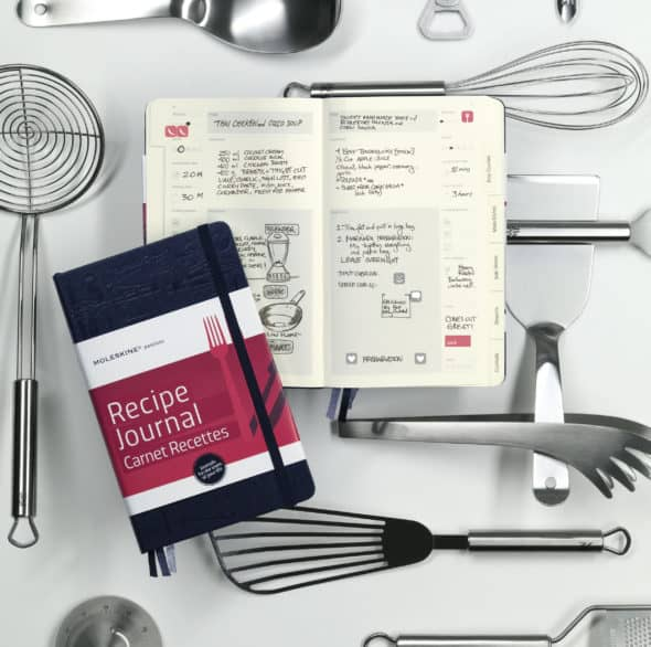 recipe journal 590x586 Moleskine Passions Journal Review and Giveaway | Open Worldwide (Total 120 USD )