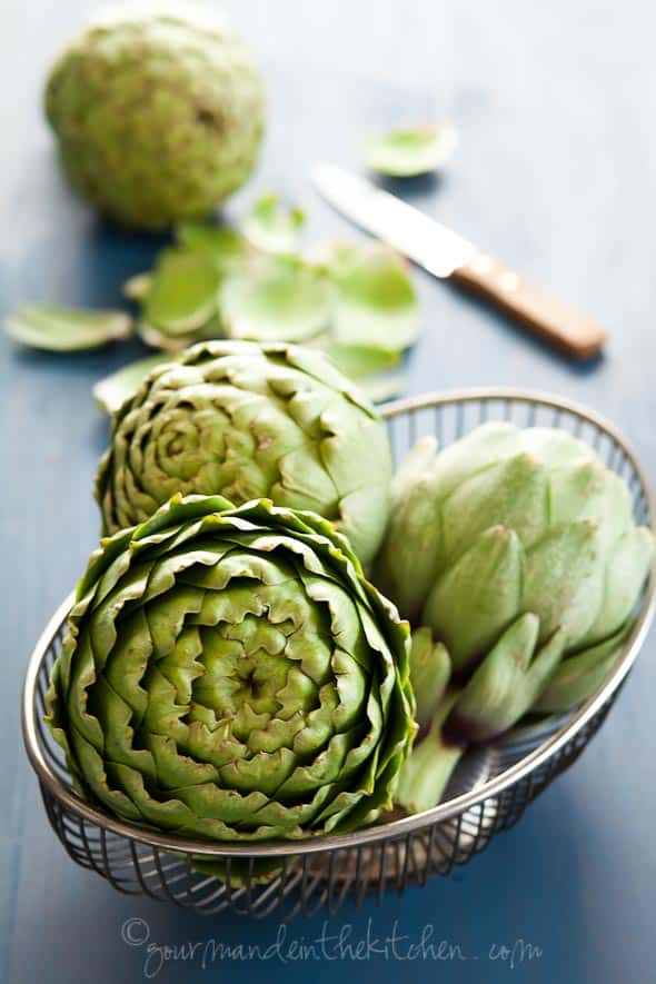 Artichokes in Basket Gourmande in the Kitchen