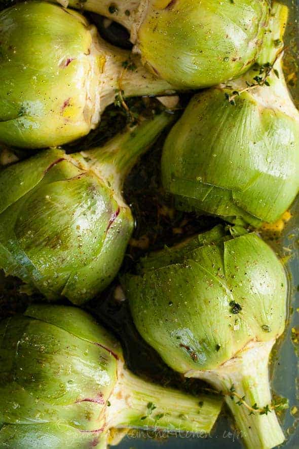 Artichokes in Olive Oil and White Wine Gourmande in the Kitchen